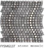 Acero inoxidable Cristal casa de materiales de construcción de baldosas de mármol del mosaico (FYSM137)