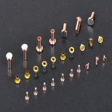 Contactos eléctricos de plata bimetálicos de la aleación de cobre
