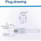 cabo de potência padrão de 2-Pin Italy com aprovaçã0 de Imq (I2-10)