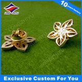 Inneres formte MetallabzeichenPin mit Shinny das Gold, das für preiswerten Preis überzogen wurde