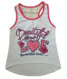 方法子供の衣服(SV-022-027)の袖なしの女の子のTシャツのベスト