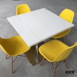 セットされるカスタム円形の人工的な石造りの固体表面のダイニングテーブル(V160808)