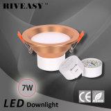 7W 3.5 programa piloto integrado de la iluminación SMD Ce&RoHS del proyector de la pulgada LED Downlight de oro