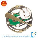 Медаль бейсбола пожалования металла финалиста 3D OEM изготовленный на заказ серебряное