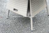 옥외 등나무 정원 고리 버들 세공 테이블 및 의자