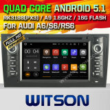 Carro DVD GPS do Android 5.1 de Witson para Audi A6 com sustentação do Internet DVR da ROM WiFi 3G do chipset 1080P 16g (A5577)
