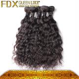 高品質水波の毛の織り方の自然な人間の毛髪の部分