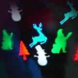 Luzes de Natal do diodo emissor de luz do floco de neve, projetor de luzes brancas das decorações do Natal ao ar livre