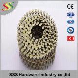 I chiodi verniciati della bobina del pallet da 15 gradi con l'anello/liscio pneumatici/hanno torto la tibia Clavos Helicoidales/Pregos
