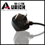 Штепсельная вилка PVC BS 4573 комплекта шнура H05VV-F силового кабеля UK 3G0.75