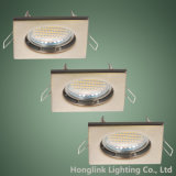 Base ligera ahuecada MR16 de cobre amarillo antigua Downlight de techo del cuadrado GU10