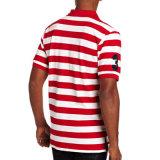 Chemise de polo du Jersey de la raie des hommes en gros de coton
