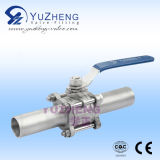 3개 피스 Stainless Steel 304/316 Thread mm Ball Valve
