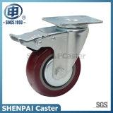 """5 """"ポリウレタン中型の義務のための固定足車の車輪"""