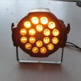 Iluminación de aluminio del disco de la etapa de la IGUALDAD LED 18W Rgbawuv