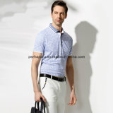 Haute qualité Skinny Printing Check Hommes Polo Shirt Sports Wear
