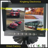 Стойки экрана 800X480 цифров квада дюйма DC12V~24V 4chs дюйма 9 поставщика 7 Китая монитор телевизионной камеры вид сзади автомобиля навеса Split один для шины/тележки/кареты/Motorhomes