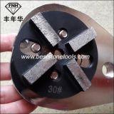 Meule de diamant concret d'étage en métal CD-49 avec le segment 4