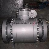 O ANSI forjou a válvula de esfera fixa de aço da turbina