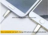 De unieke USB Kabel kan zowel Ios Telefoon als Androïde Telefoon laden