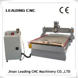 Jinan que conduz a máquina de cinzeladura de madeira do CNC da linha central 4*8' 4