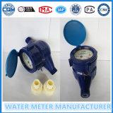 Пластичный счетчик воды в сини (материал ABS)