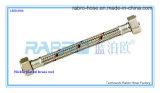 Roestvrij staal Gevlechte Slang met Rode en Blauwe Lijnen (LBO1006)