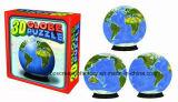 rompecabezas Jigsaw plástico del globo de 60piece 3D/rompecabezas Jigsaw esférico