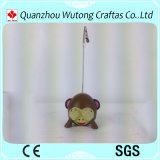 Supporto di scheda di Expressin della scimmia della cancelleria dell'ufficio della resina del regalo di promozione