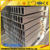 Tuyauterie rectangulaire en aluminium de tube en aluminium pour le profil en aluminium fabriqué