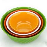 Multicolor круглая пластичная тарелка еды воспитательных игрушек