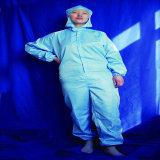 청정실 ESD 직물은 정전기 방지 청소 의복 작업복을 입는다