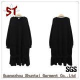 Nach Maß einfaches/großzügiges Form-Dame-Pullover Hoodie Kleid mit Firmenzeichen