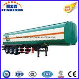 3車軸50cbm炭素鋼の4サイロが付いている可燃性の燃料またはオイルまたはディーゼルまたはガソリンまたは原油の実用的なタンカー