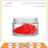 vaso di vetro del caviale 65ml con la protezione del metallo, contenitore del caviale, vasi d'inscatolamento del caviale