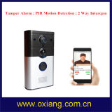 Do telefone video da porta da tecnologia PIR WiFi do P2p Android video sem fio do Ios da sustentação do Doorbell