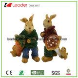 홈과 정원 Deocration를 위한 사랑스러운 Polyresin 43cm 토끼 동상