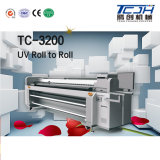 Roulis de tête d'impression du grand format 3.2m Ricoh Gen5 pour rouler l'imprimante UV avec l'imprimante à jet d'encre de forte stabilité de Digitals