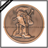 3D in lega di zinco Coin con Two Sides Logo con Bronze Finish (BYH-10806)