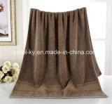 綿の贅沢で長い山のドビーのボーダー浴室タオル