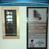Ventana de aluminio del marco con el protector protector para la decoración de la casa