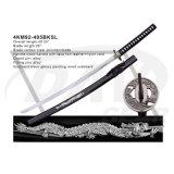 """40.55 """" punho de madeira Katana com a lâmina Polished do aço de carbono: 4km91-405bka"""