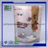 Resealable 플라스틱 지플락은 지퍼를 가진 주머니 식품 포장 부대를 위로 서 있다