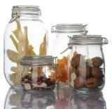 Frasco de vidro dos produtos vidreiros no Kitchenware para o alimento do armazenamento