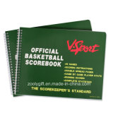 Тетрадь мягкой крышки Scorebook баскетбола таможенного служащего спиральн