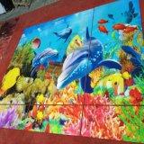 el mundo del mar 3D embaldosa los azulejos de cerámica cristalinos nanos de la pared del fondo