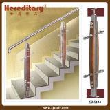Balaustrada moderna do aço inoxidável e do vidro para a escadaria interna (SJ-S134)