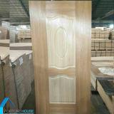 環境に優しく自然な内部ドアのための木によって張り合わせられるHDFのドアの皮