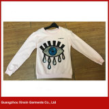 2017 magliette felpate del Sequin dello Spandex del cotone di disegno di modo per la ragazza e le donne (T92)