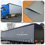 Stof van uitstekende kwaliteit van het Geteerde zeildoek van pvc van het Gordijn van de Vrachtwagen de Zij